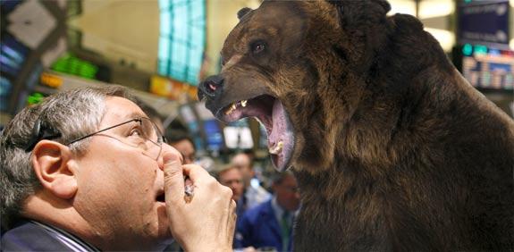 דובים ירידות בורסה / צלם: פוטוס טו גו, רויטרס